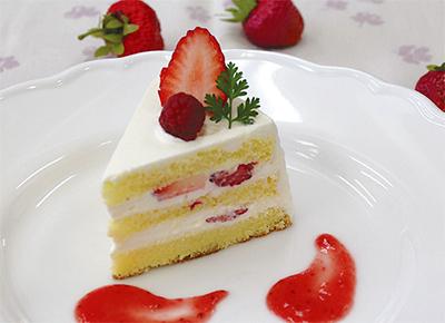 おいしい手作りショートケーキ