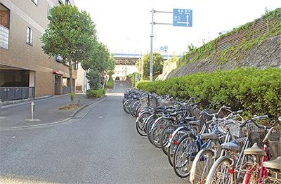 自転車放置禁止区域に