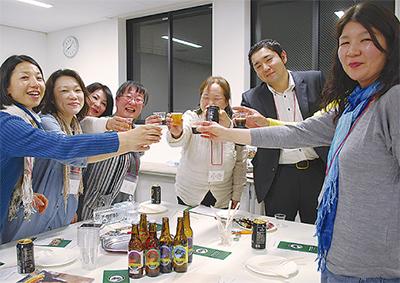 地元ビールでかんぱ〜い