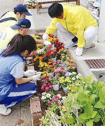 楽しみながら花植え