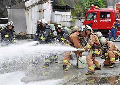 危険物火災想定し訓練