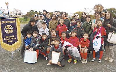 高津南RCがサッカー大会