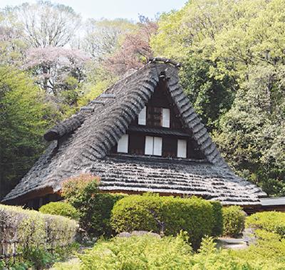 日本民家園で「こどもまつり」