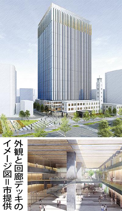 新庁舎 25階建てに