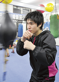3度目の防衛戦に向け、練習のピッチが上がる黒田選手
