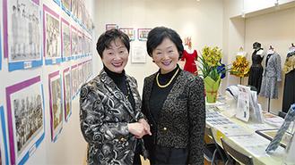2代目の伊藤稚子さん(右)と栗田佐穂子さん(左)