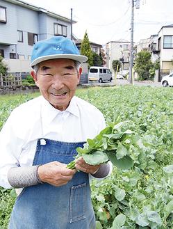 「つぼみがついたら摘みごろ」と高橋会長