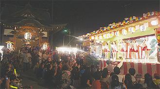 川崎純情小町☆も祭礼を盛り上げた