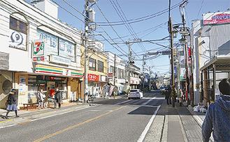 スタンプラリーが開催される生田中央商店会の街並み