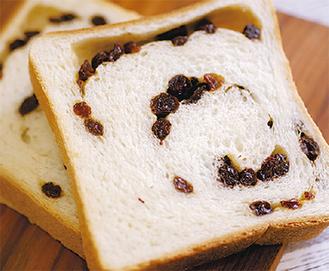 大粒レーズンとパンの甘みが絶妙な「れーずん」(360円)