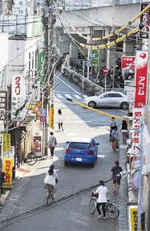 自転車の利用者が多い登戸駅周辺