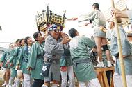 菅の神輿 地域に熱気