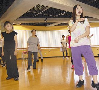 前回の講座の一つ、ダンスシェイプ教室