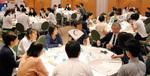 加茂理事長を交え議論する参加者