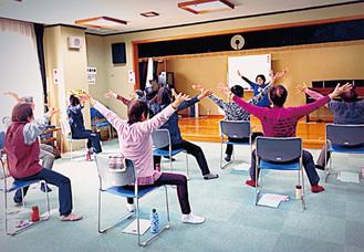 家でもできる体操を学べる