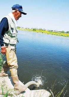 先月は稚魚2万4千匹を放流