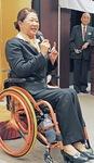 パラリンピックや地元川崎への思いを語る、競泳選手の成田さん