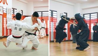熱戦を展開した柔道と剣道の高点試合