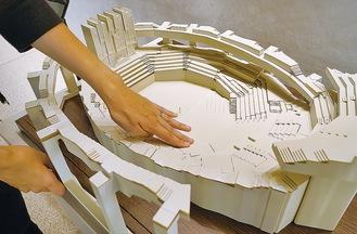 複雑な構造を体感できる模型