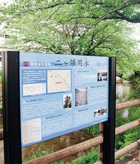 中野島中南西側に設置された解説板