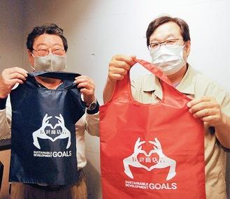 原山会長(左)と高橋さん