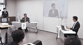牧瀬准教授(右)と福田市長