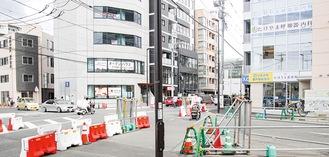 土地区画整理事業が進む登戸駅西側