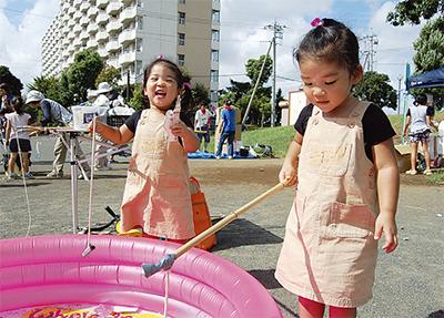 中野島で縁日遊び