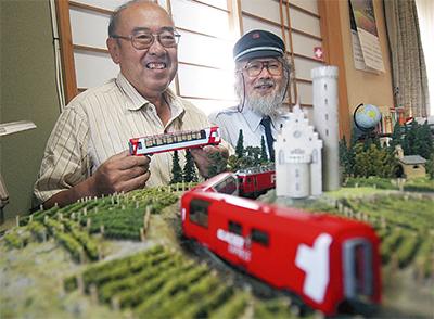 鉄道模型、音楽と味わって