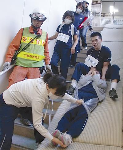 特養で消防訓練