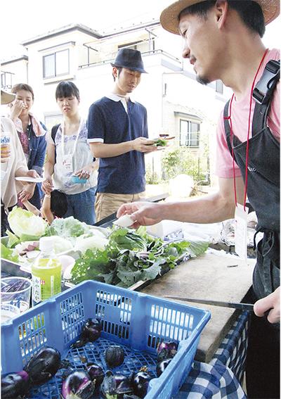 新鮮野菜をフレンチに