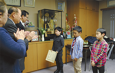 児童3人が各賞受賞