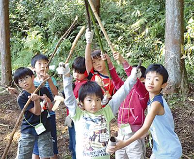 夏の秘密基地キャンプ