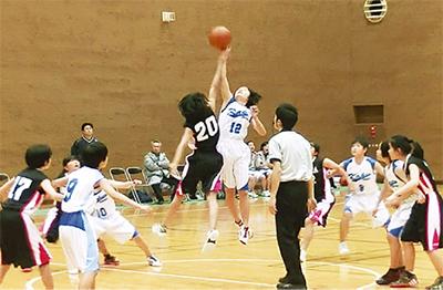 中1バスケで稲中が優勝