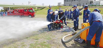 火災に備え機材を点検