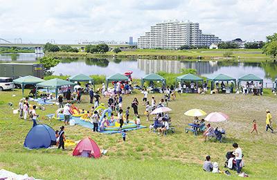 多摩川で「夏万博」
