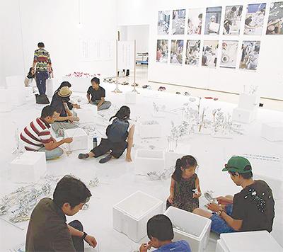 岡本太郎美術館で遊ぼう