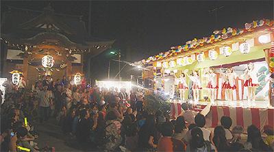 長沢諏訪社で祭礼