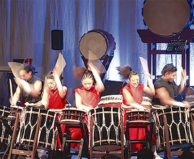 和太鼓と民謡のコラボ
