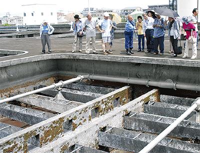 閉鎖の生田浄水場を見学