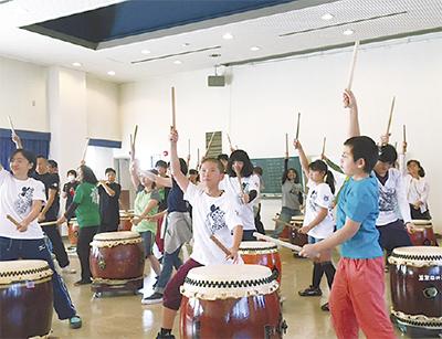 震災復興へ和太鼓公演