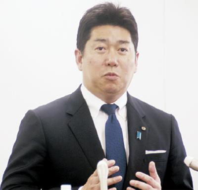 福田市長、再選出馬を表明 「課題にチャレンジしたい」