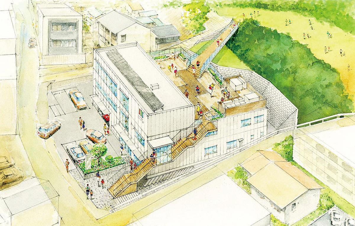 多摩区役所生田出張所 校庭とつながる拠点に 事業者決定、21年夏開所へ ...