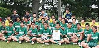 県大会優勝の西中原中学校サッカー部