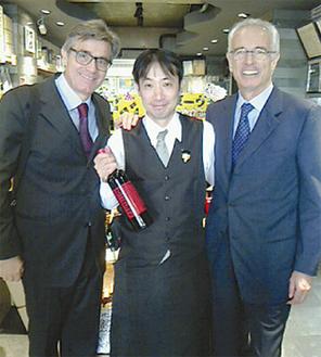 11/3イタリアコンティ・ゼッカ社来店。店主と記念撮影