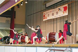 聾学校の児童による和太鼓演奏