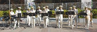 クリスマスソングなど3曲を披露した川崎市消防音楽隊