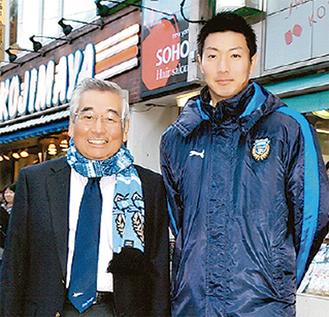 藤本会長と安藤選手