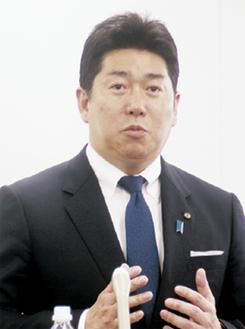 出馬への思いを語る福田氏