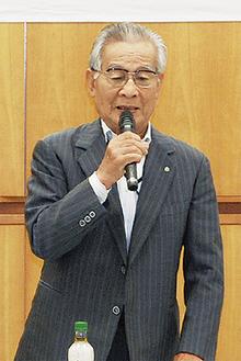 協力を呼びかける廣山会長